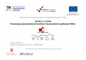 "ERP VIRGA ostvarila pravo uporabe znaka ""Izvorno Hrvatsko – Croatian Creation"""